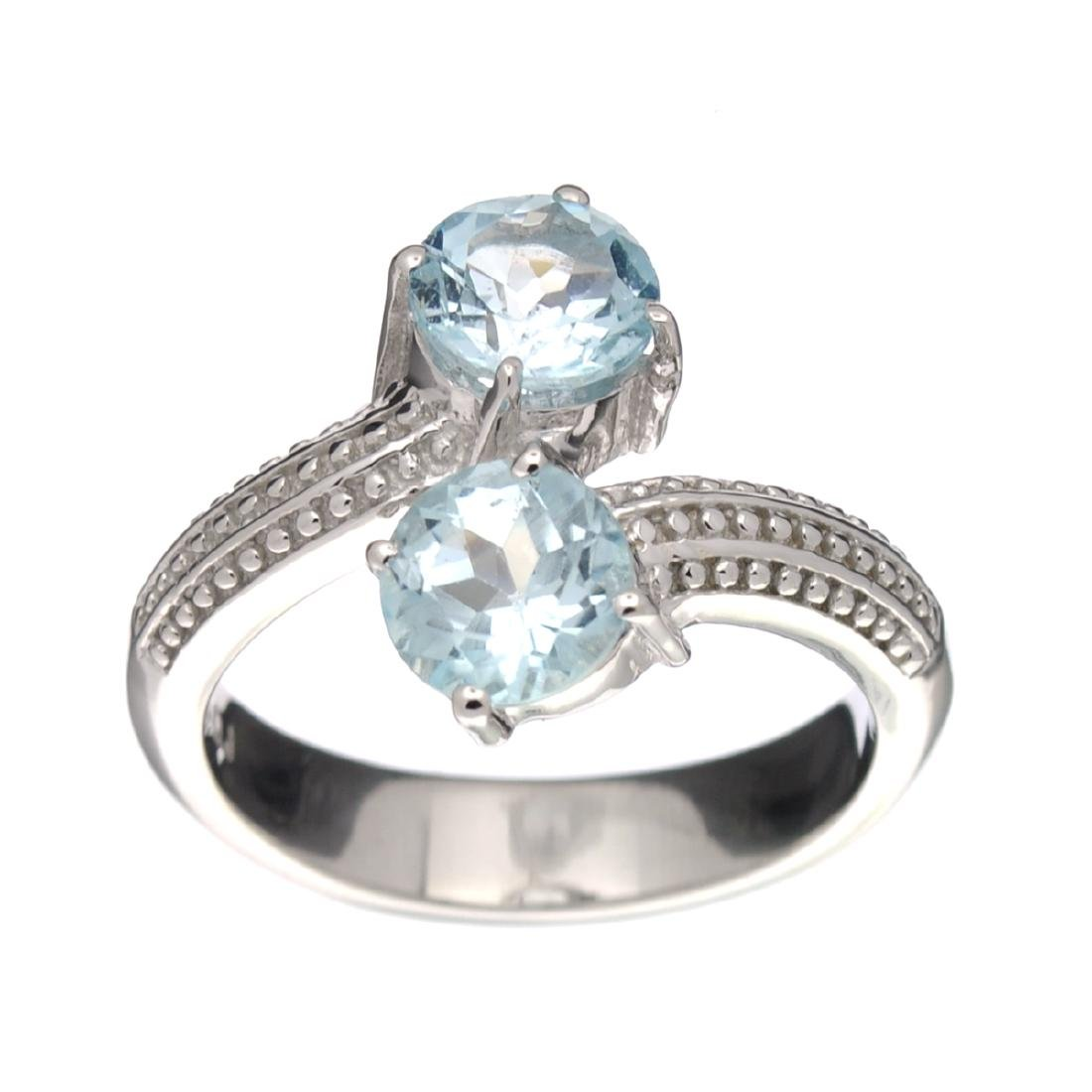 APP: 0.5k Fine Jewelry 2.10CT Round Cut Blue Topaz And