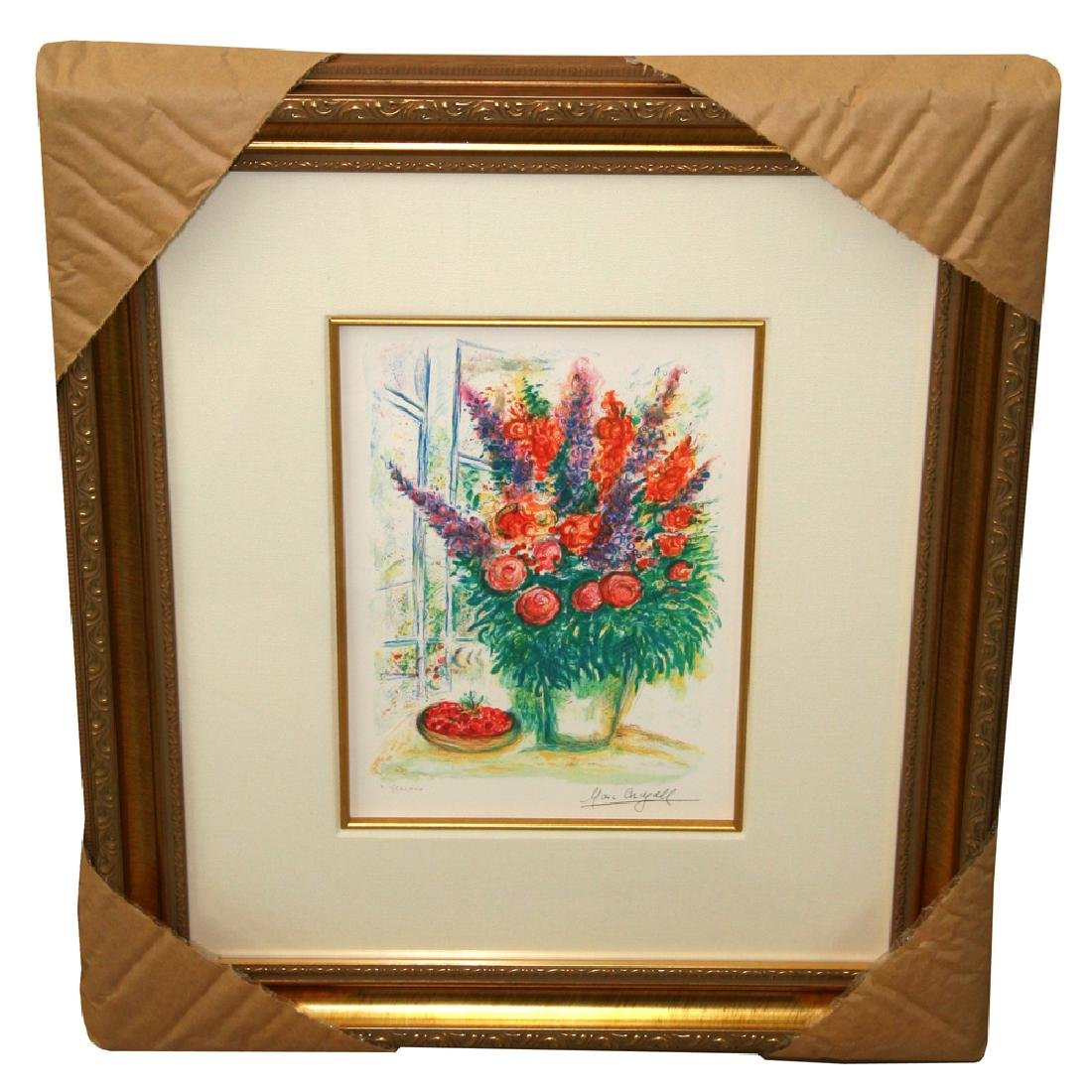 Chagall (After) 'Bowl of Cherries' Museum Framed