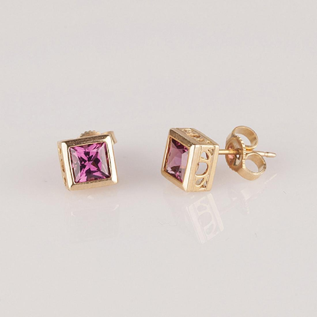 *Fine Jewelry 14 kt. Gold, New Custom Made, Rhodolite