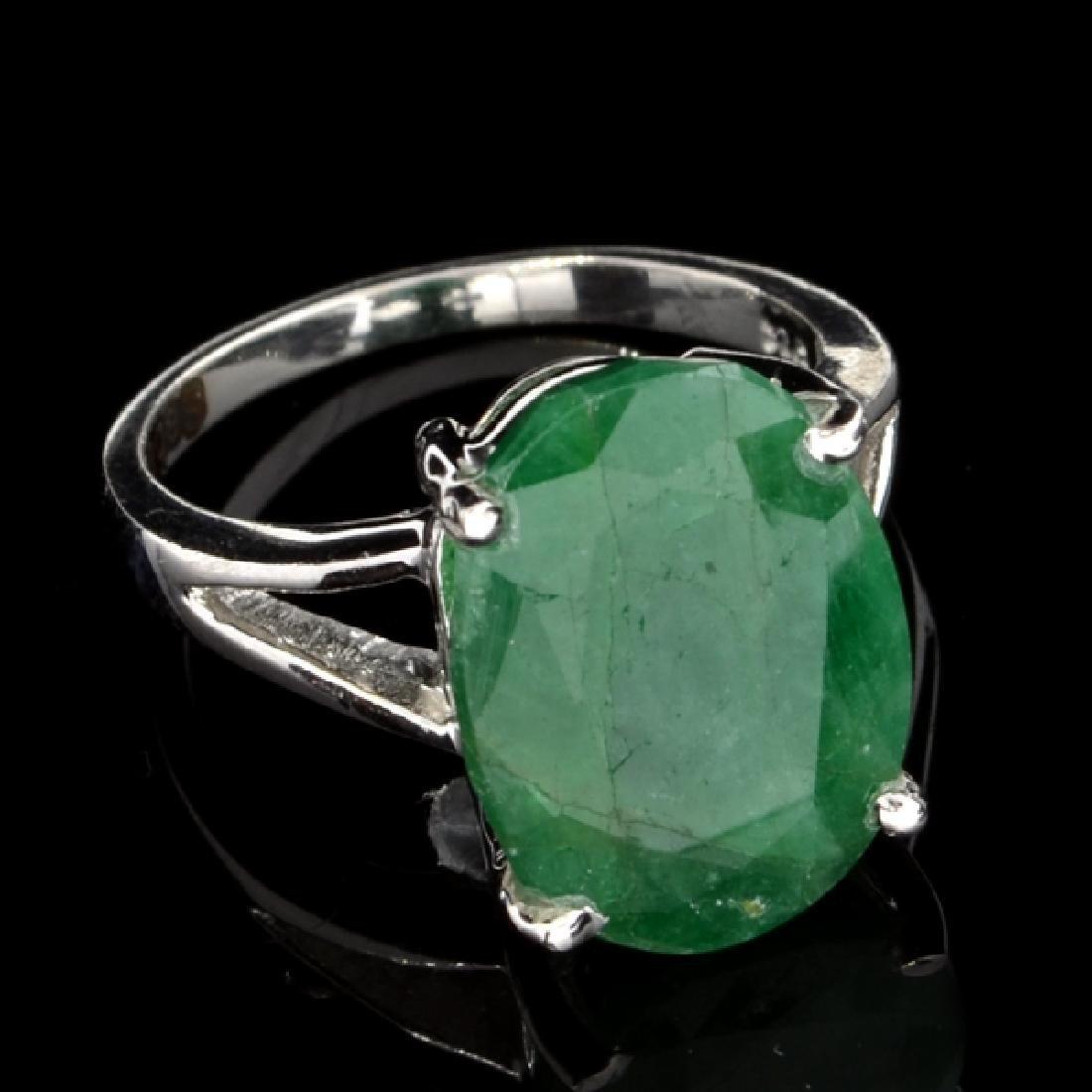 Fine Jewelry Designer Sebastian 9.10CT Oval Cut Green