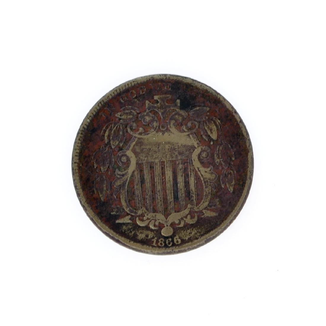Rare 1866 Shield Nickel Coin
