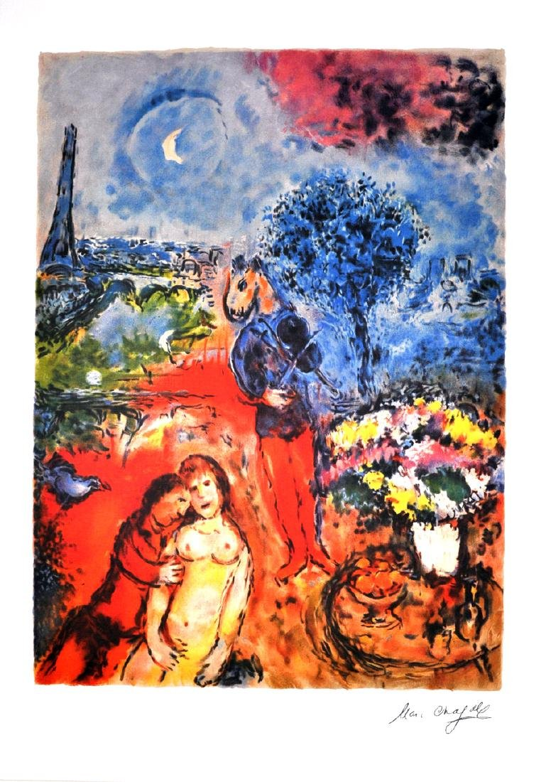 MARC CHAGALL (After) Serenade Print, I276 of 500