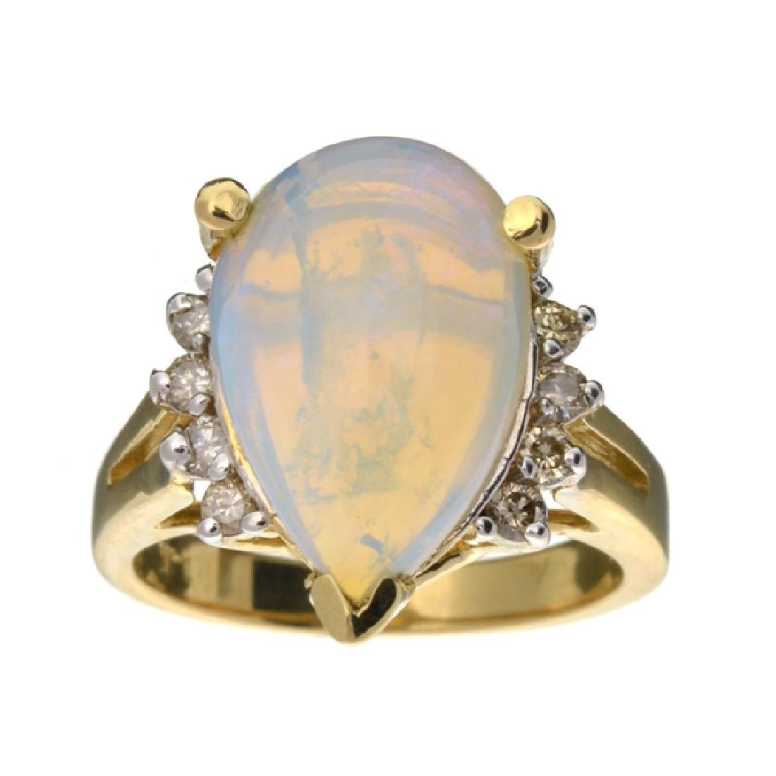 APP: 3.7k 14 kt. Yellow/White Gold, 3.95CT Opal And
