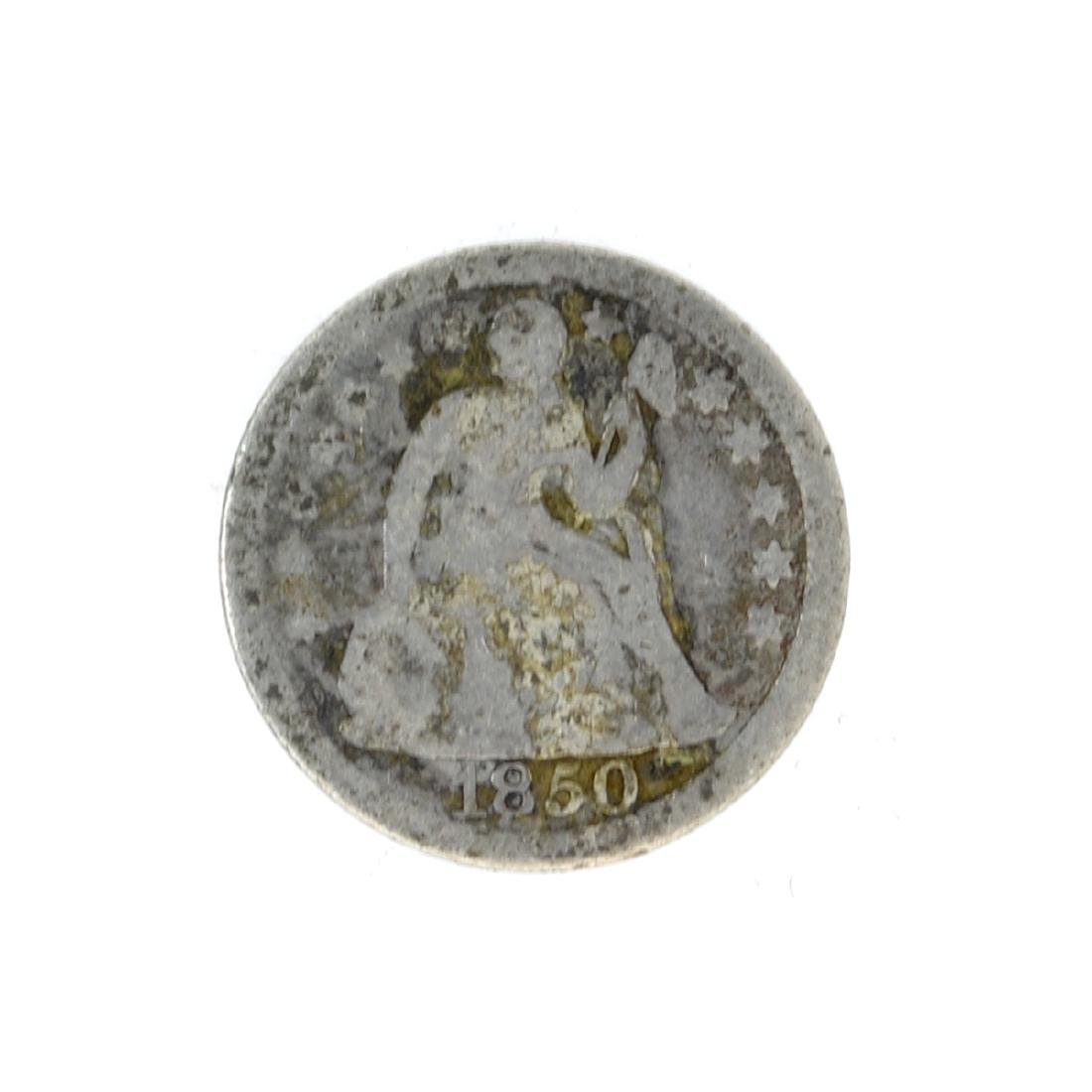 1850 Liberty Seated Dime Coin
