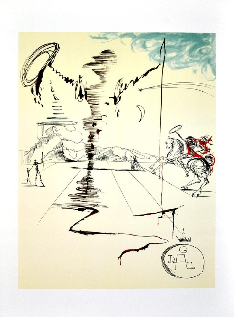 SALVADOR DALI (After) Chevalier Print, I376 of 500