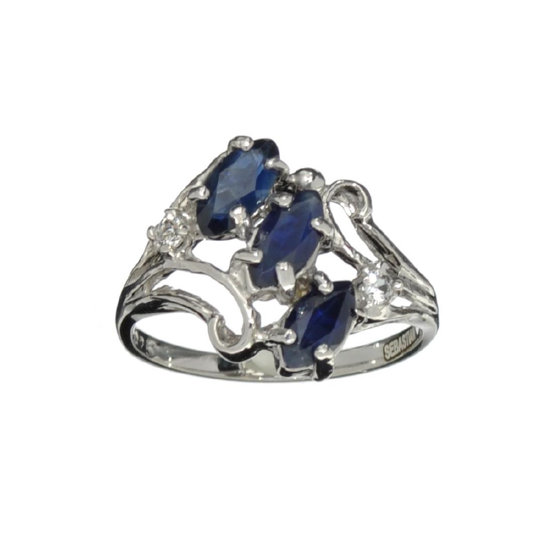 APP: 0.7k Fine Jewelry Designer Sebastian, 1.44CT Blue