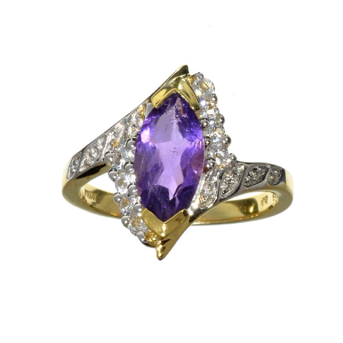 Fine Jewelry 1.75CT Purple Amethyst Quartz And