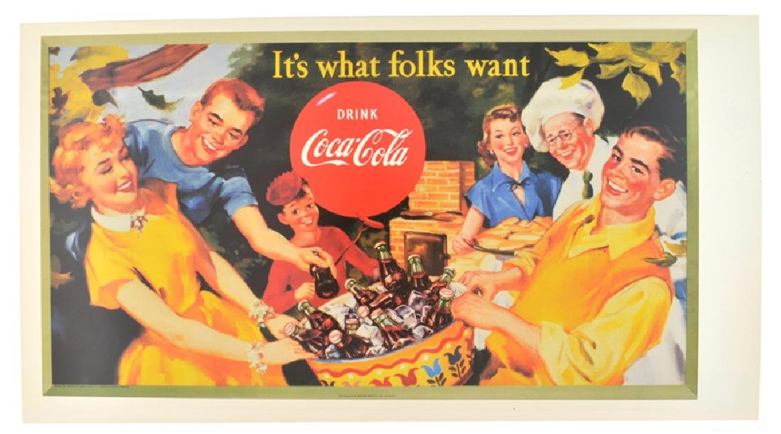 Collectable Coca Cola Advertising Poster (17'' x 9.5'')