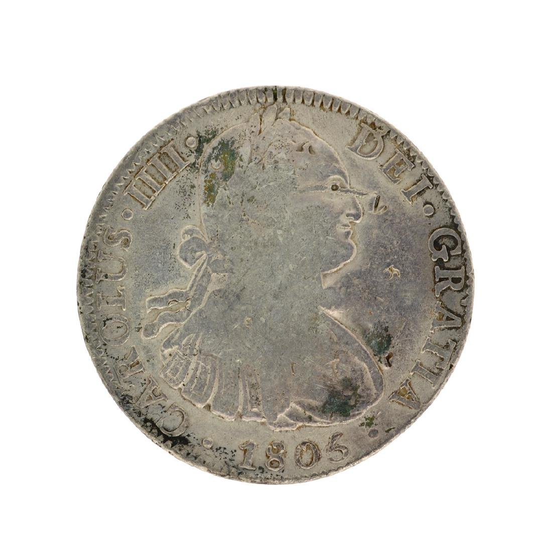 1805 Extremely Rare Eight Reales American First Silver