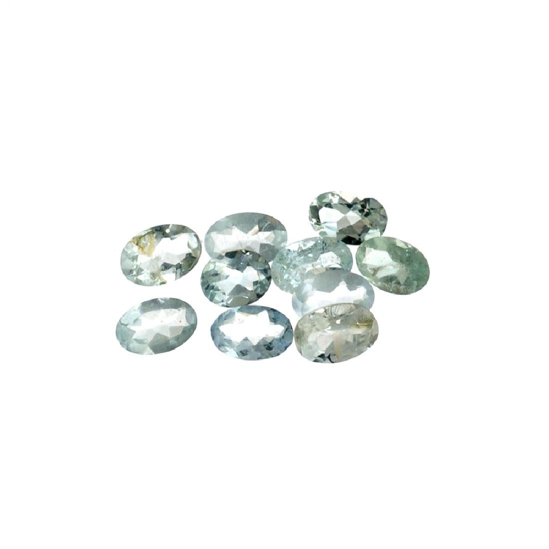 APP: 1.1k 3.74CT Oval Cut Aquamarine Parcel