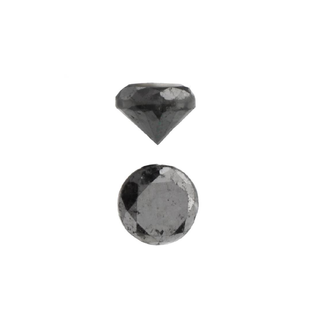 APP: 0.5k 0.59CT Round Cut Black Diamond Gemstone