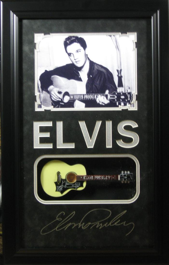 Elvis Mini Guitar - Plate Signatures