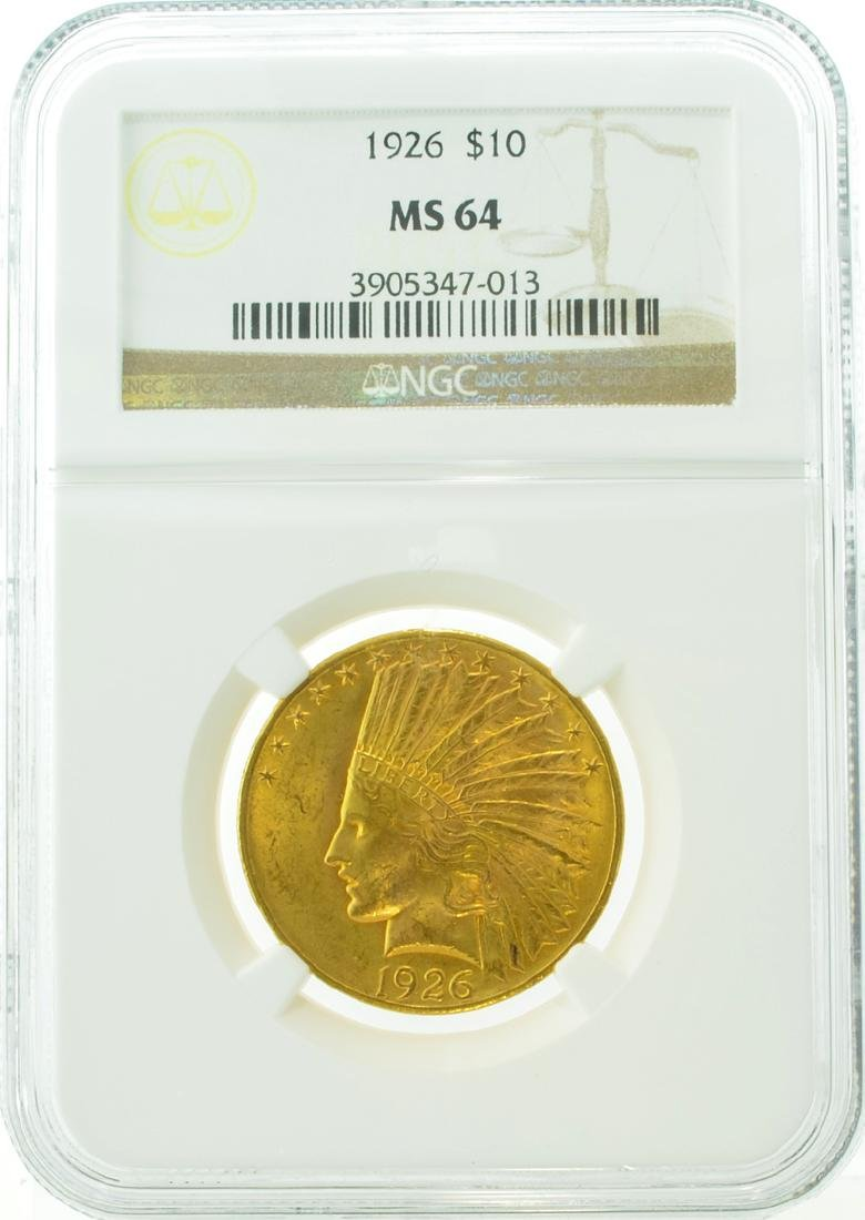 1926 $10 MS 64 NGC Indian Gold Coin (DF)