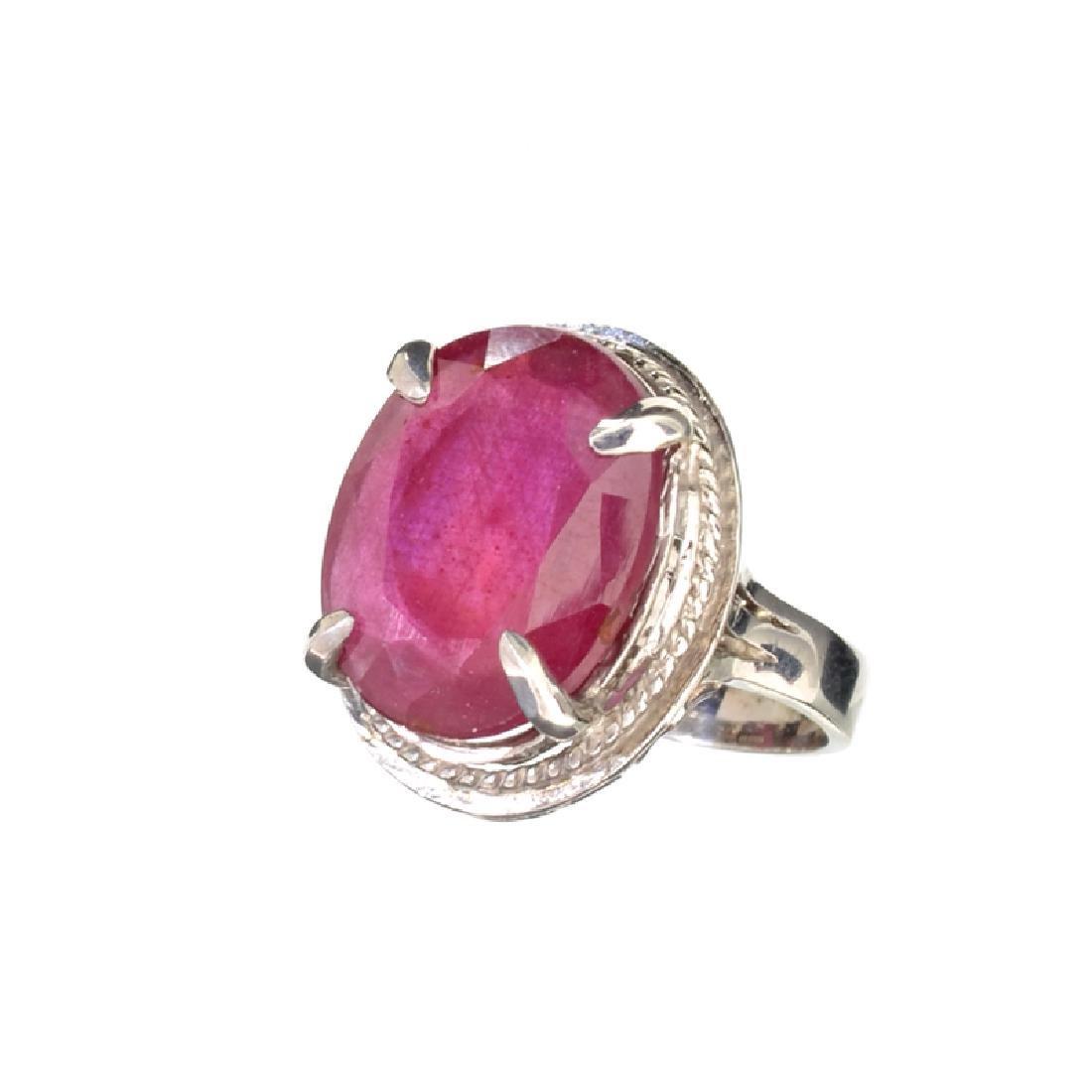 Fine Jewelry Designer Sebastian 11.97CT Oval Cut Ruby