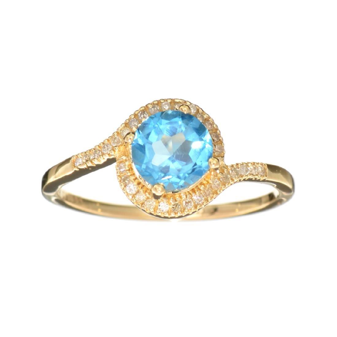 Designer Sebastian 14KT Gold 1.09CT Blue Topaz and