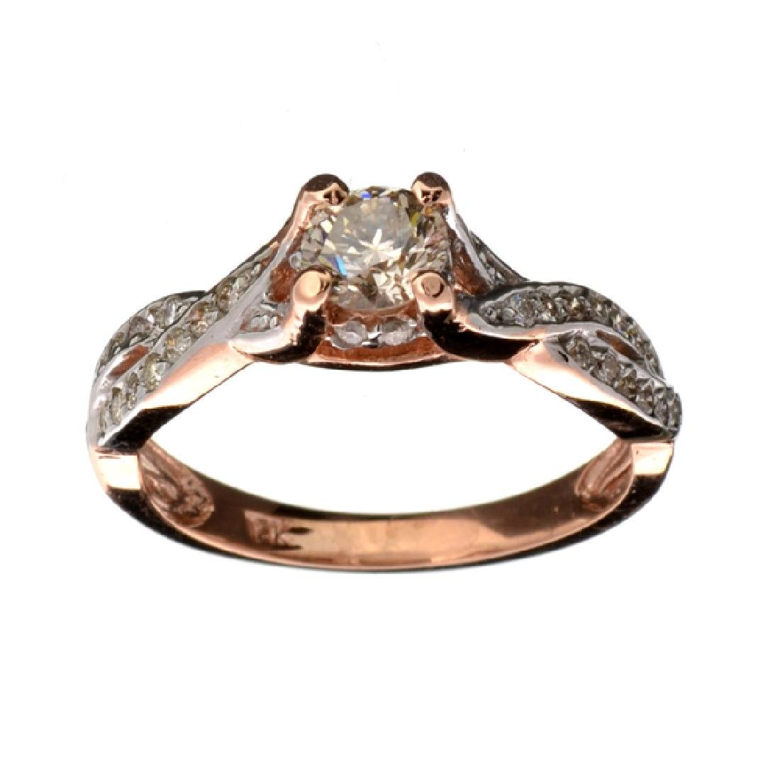 APP: 6.6k Fine Jewelry 14 kt. Rose Gold, 0.68CT Round