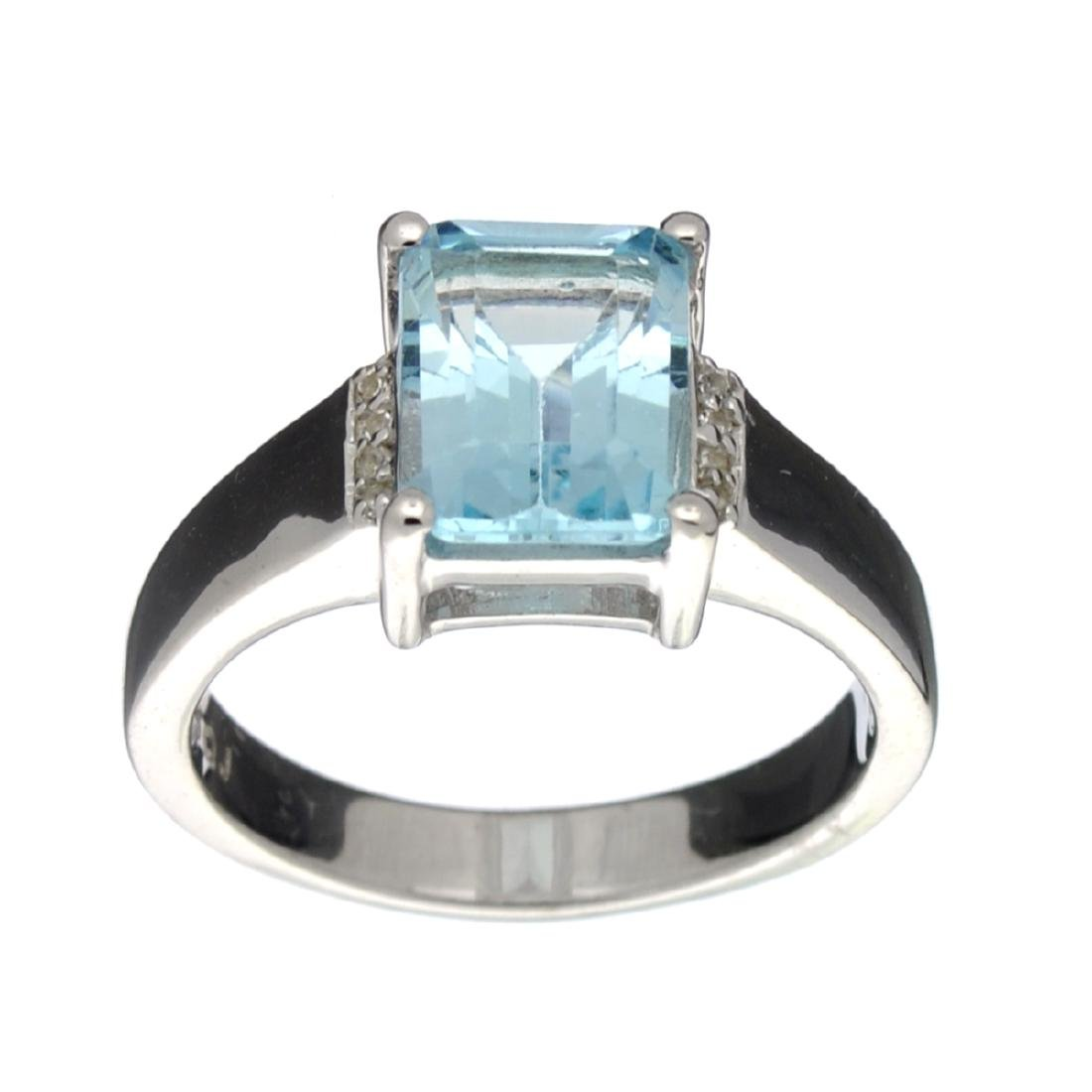 APP: 0.5k Fine Jewelry 3.05CT Blue And White Topaz