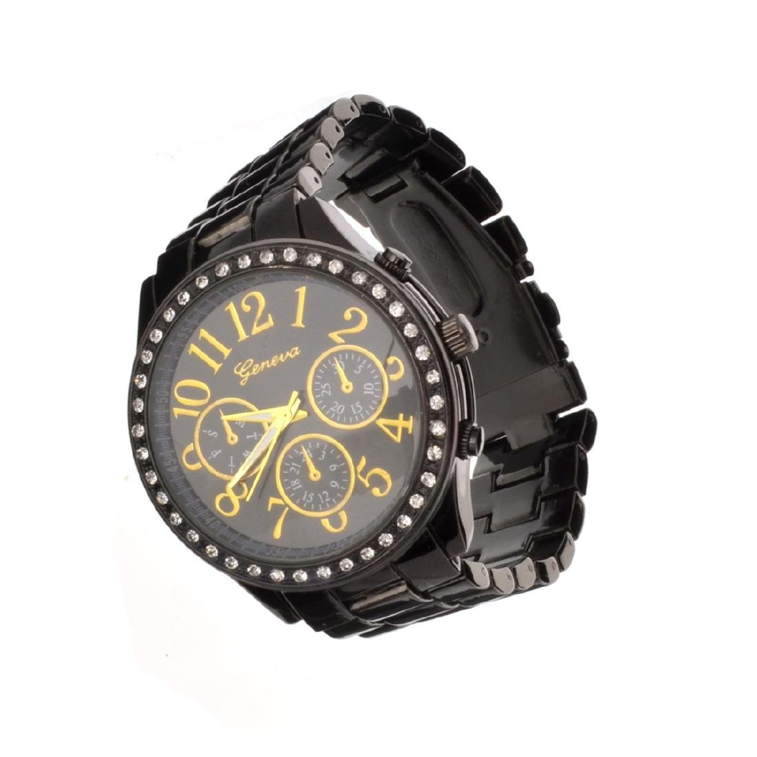 Elegant Design, Geneva Stainless Steel Round Watch