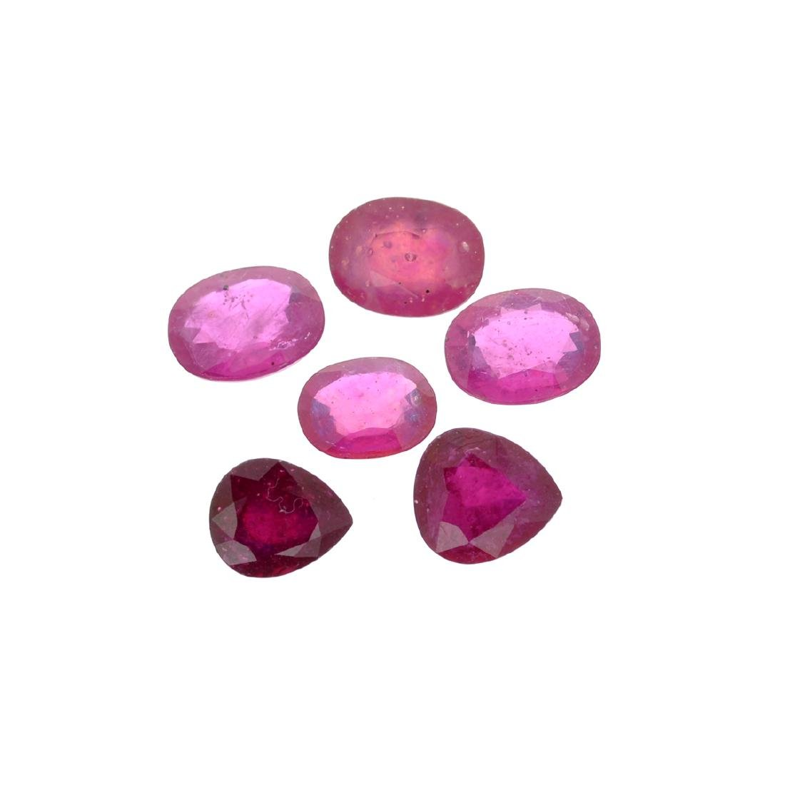 APP: 4.4k 26.57CT Oval / Pear Cut Ruby Parcel