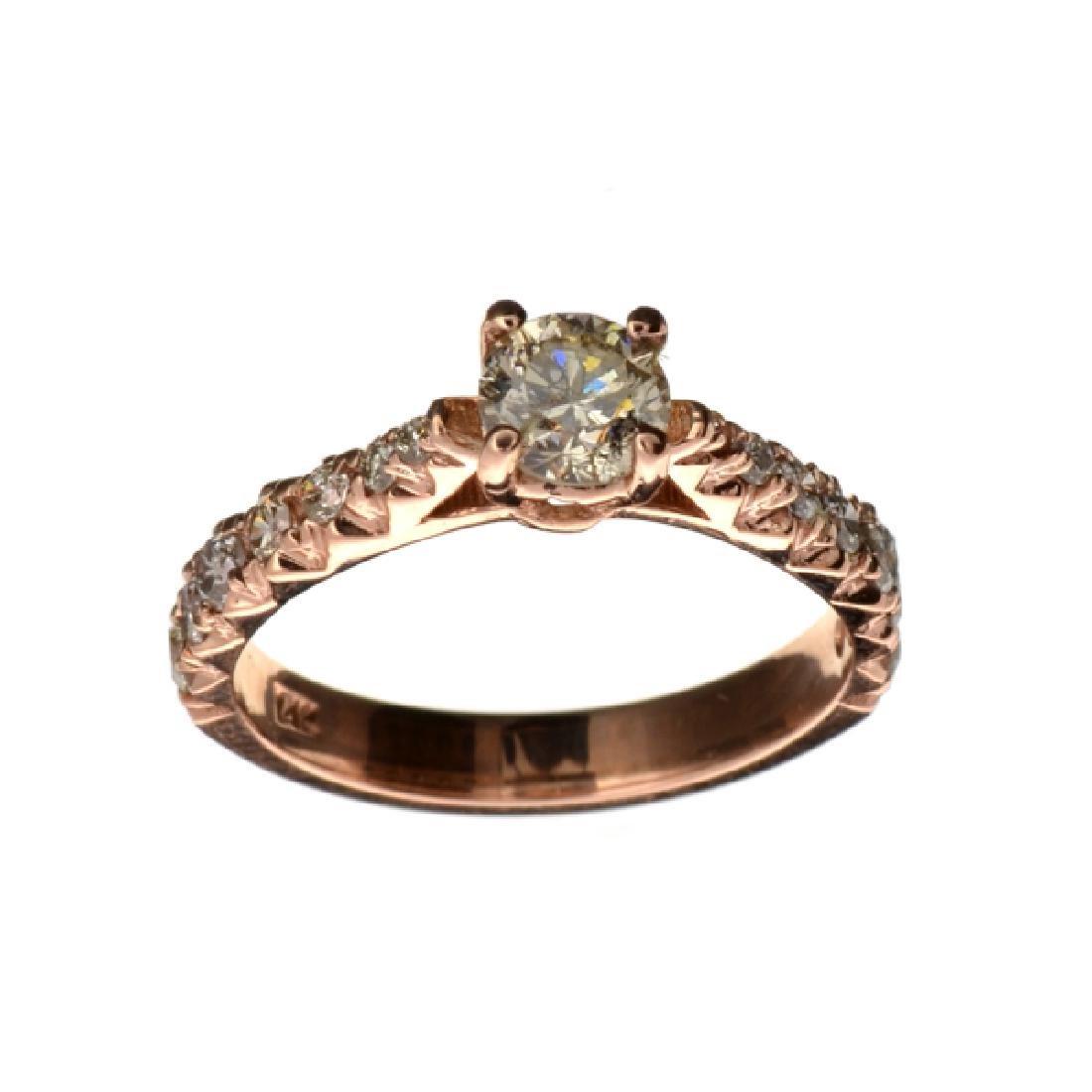 APP: 6.8k Fine Jewelry 14 kt. Rose Gold, 0.87CT Round