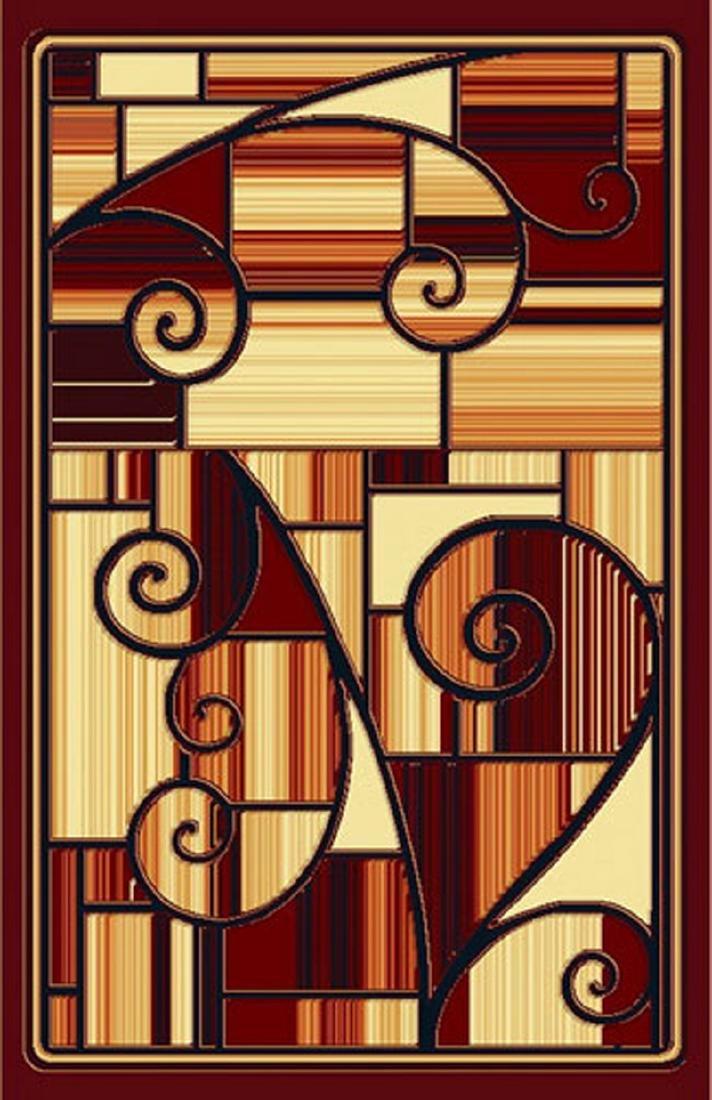 Gorgeous 5x8 Emirates Burgundy Rug  Plush, High Quality