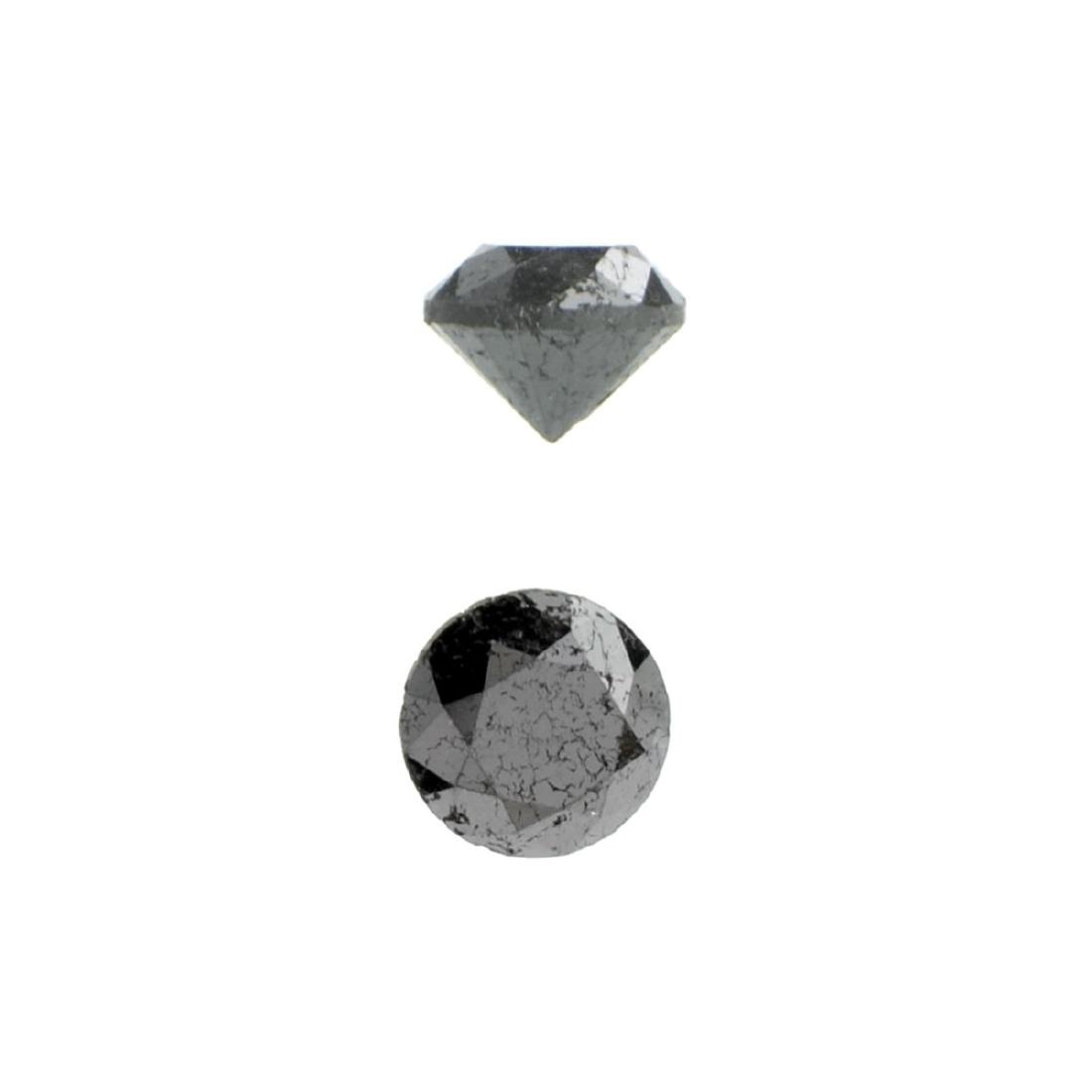 APP: 0.6k 0.83CT Round Cut Black Diamond Gemstone