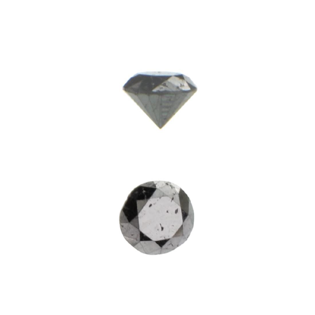 APP: 0.2k 0.31CT Round Cut Black Diamond Gemstone