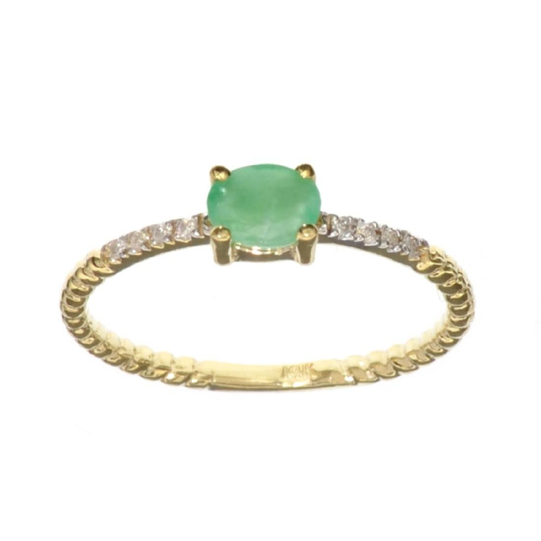 APP: 0.6k Fine Jewelry 14KT Gold, 0.21CT Green Emerald