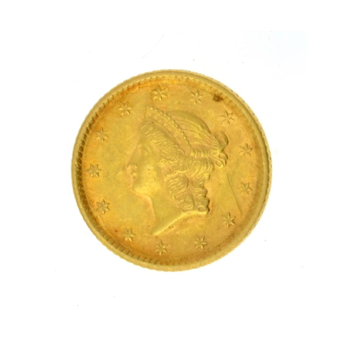 1852 $1 Liberty Head Gold Coin