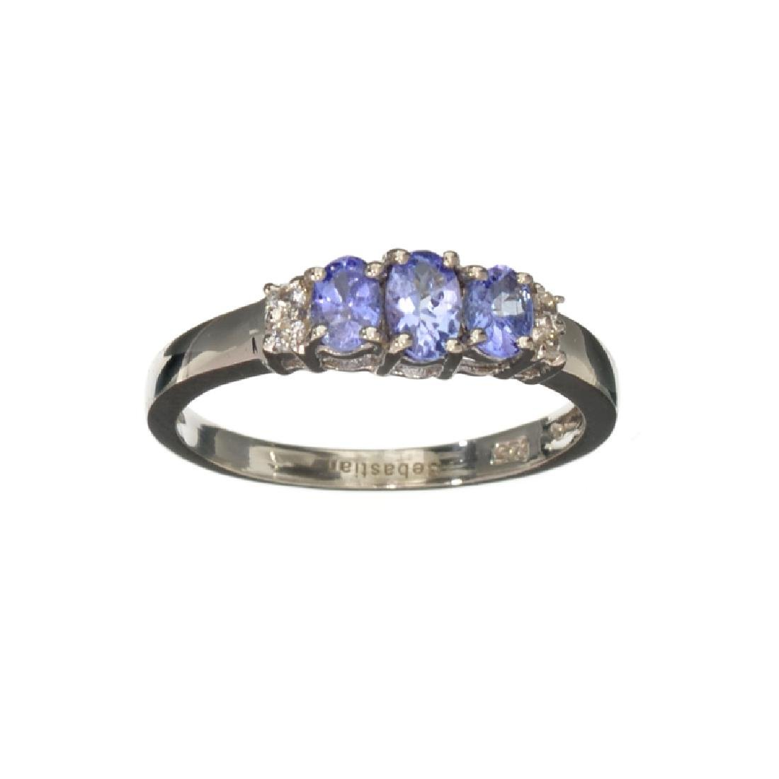 APP: 0.7k Fine Jewelry 0.70CT Oval Cut Tanzanite And