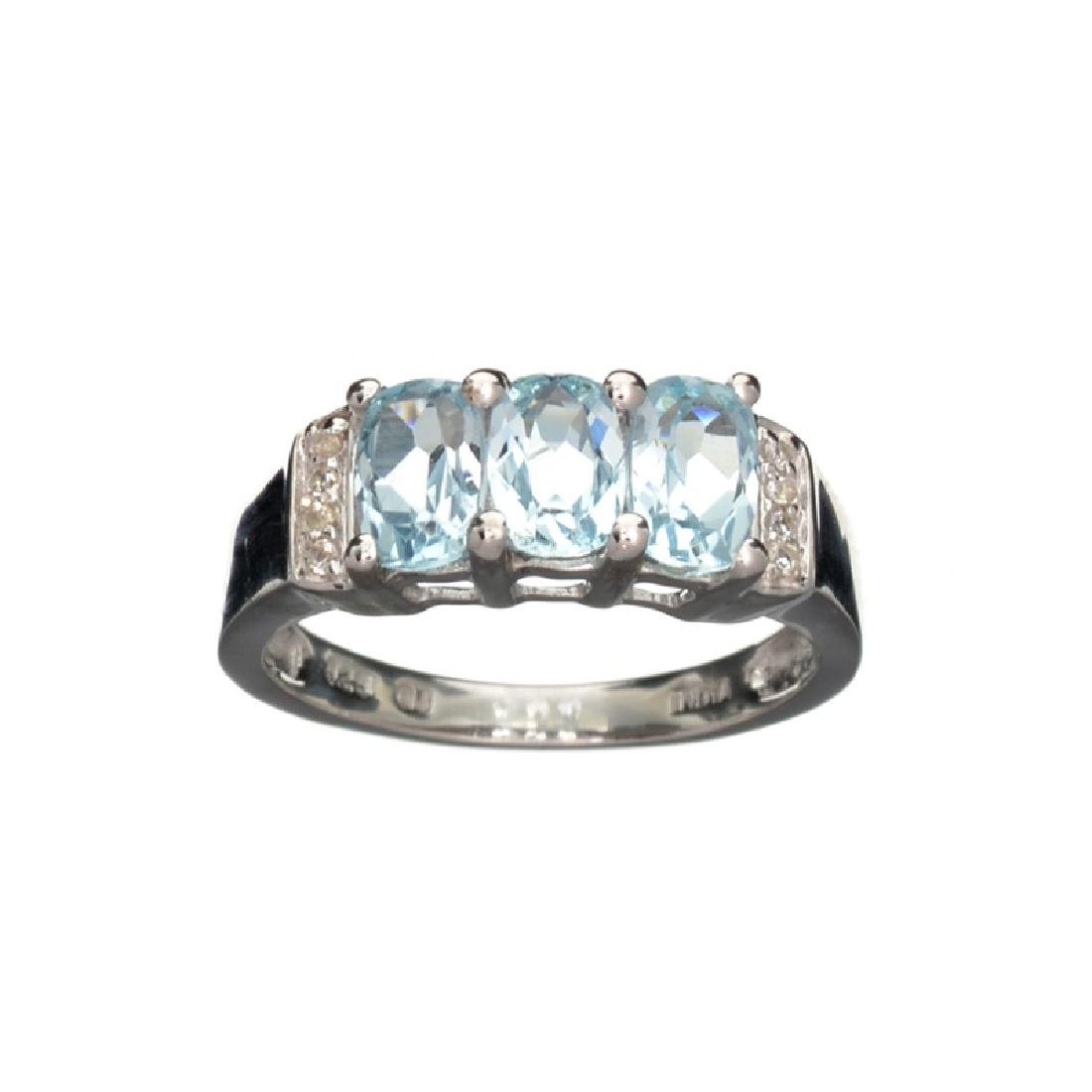 APP: 0.3k Fine Jewelry 1.84CT Blue Topaz And White