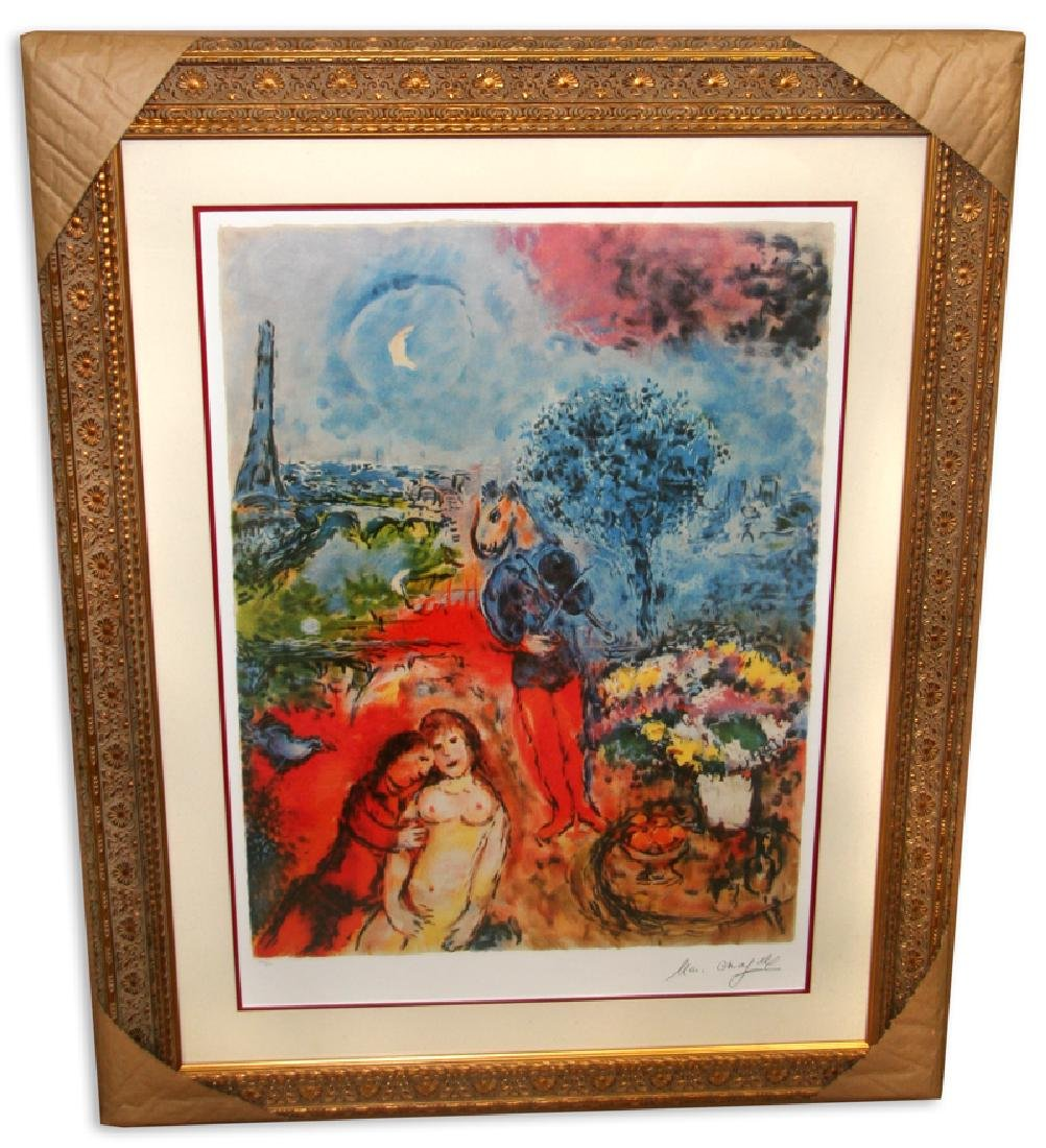 Marc Chagall (After) 'Serenade' Museum Framed & Matted