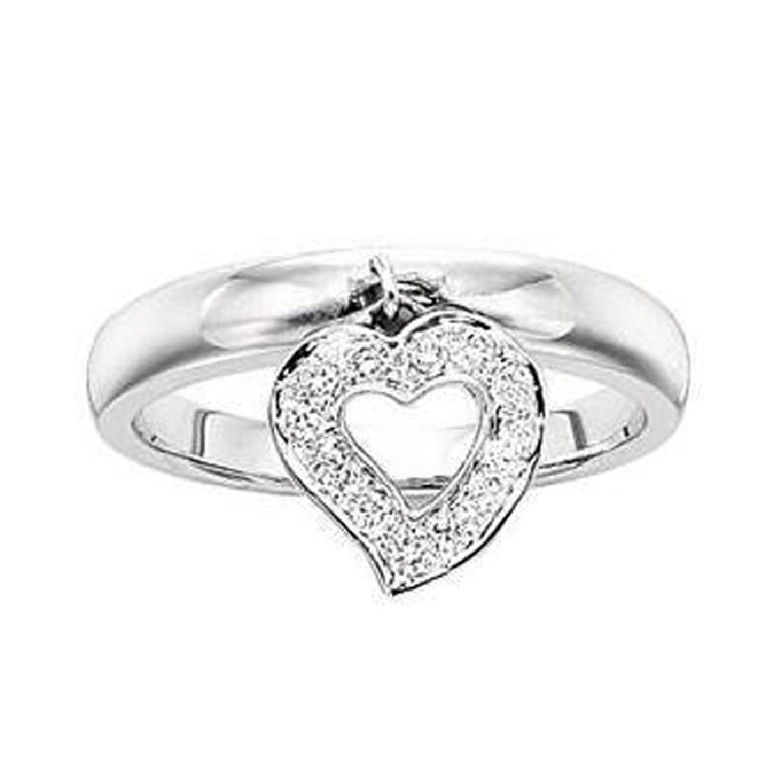 *Fine Jewelry, 14KT White Gold, 0.30CT Diamond Ring (GL