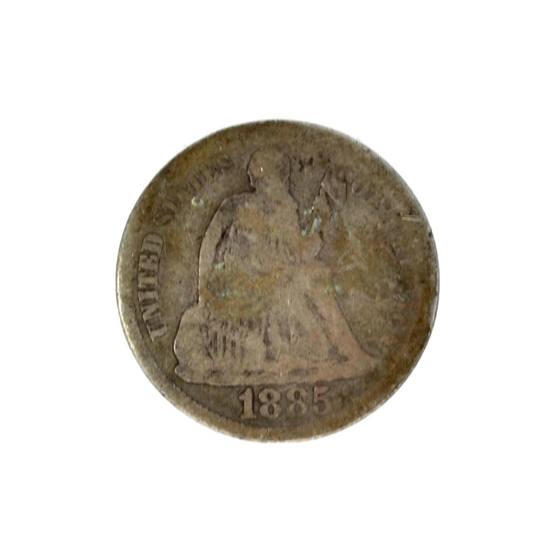 1885 Liberty Seated Dime Coin