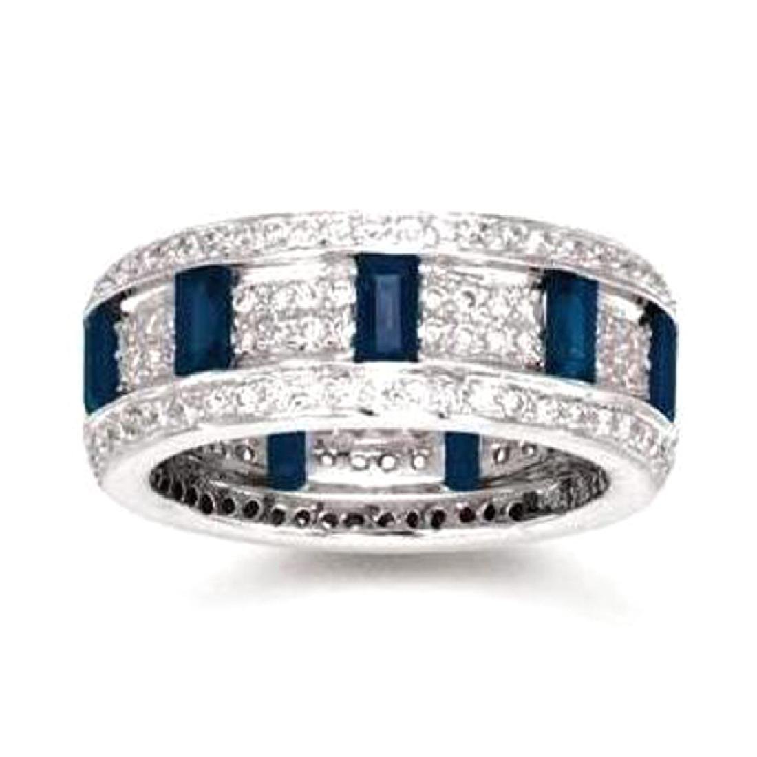 *Fine Jewelry, 14KT White Gold, 1.25CT Sapphire And