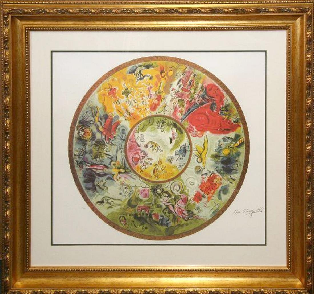 Marc Chagall (After) 'Paris Opera' Museum Framed &