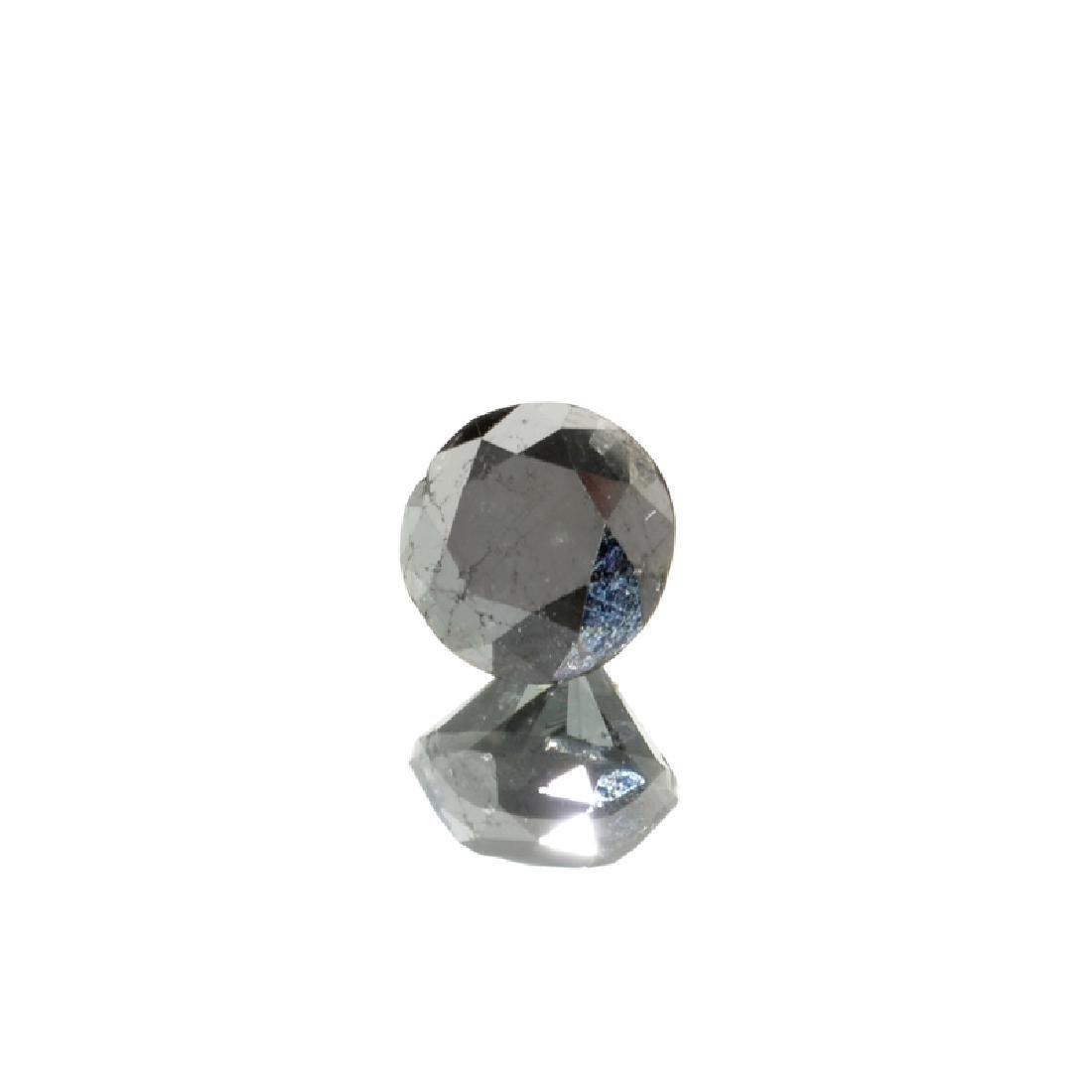 APP: 3.2k 3.55CT Round Cut Rare Black Diamond Gemstone