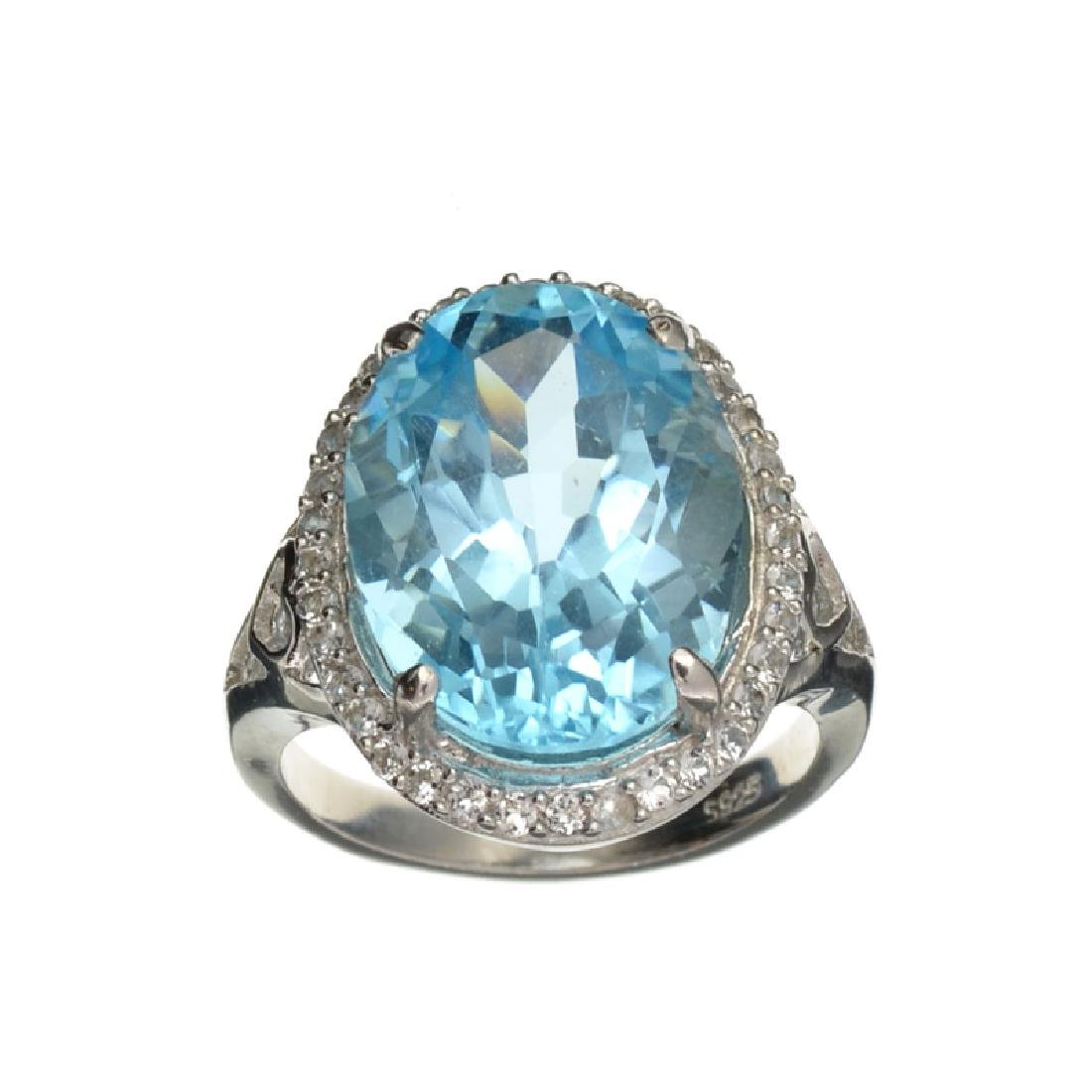 APP: 1k Fine Jewelry 11.05CT Blue Topaz And White