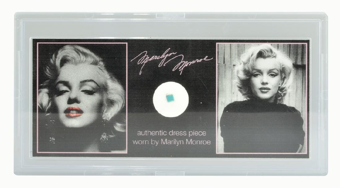 Extremely Rare Marilyn Monroe Clothing Swatch With