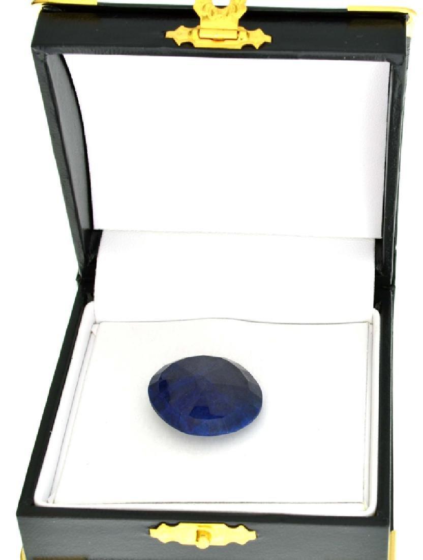 APP: 1.7k 34.75CT Oval Cut Blue Sapphire Gemstone