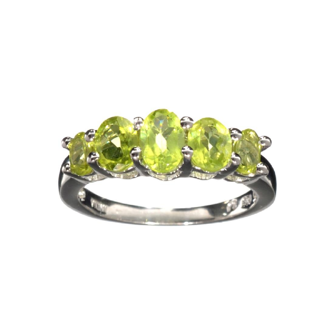 APP: 0.3k Fine Jewelry 1.49CT Oval Cut Green Peridot