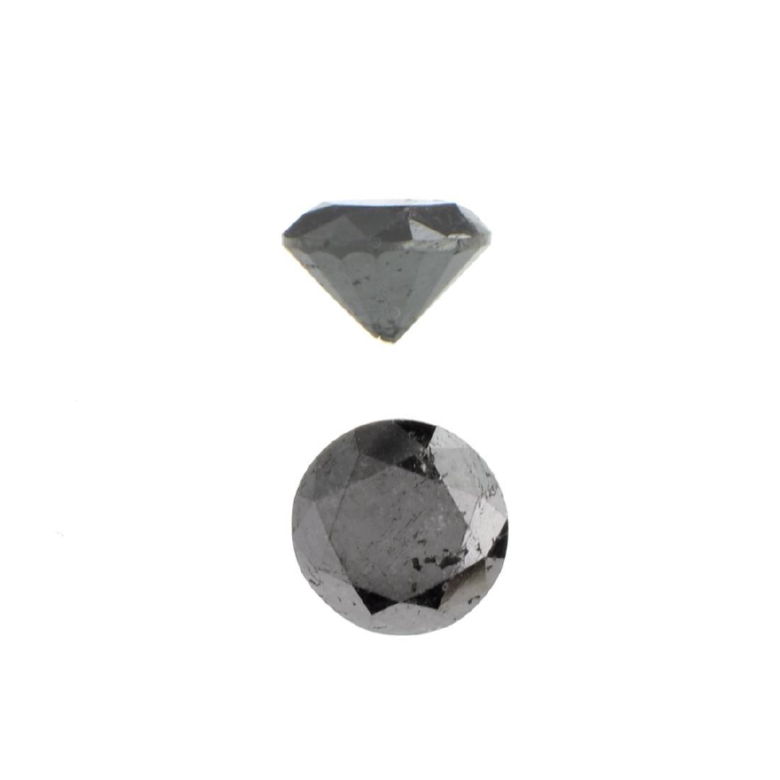 APP: 1.4k 1.52CT Round Cut Black Diamond Gemstone