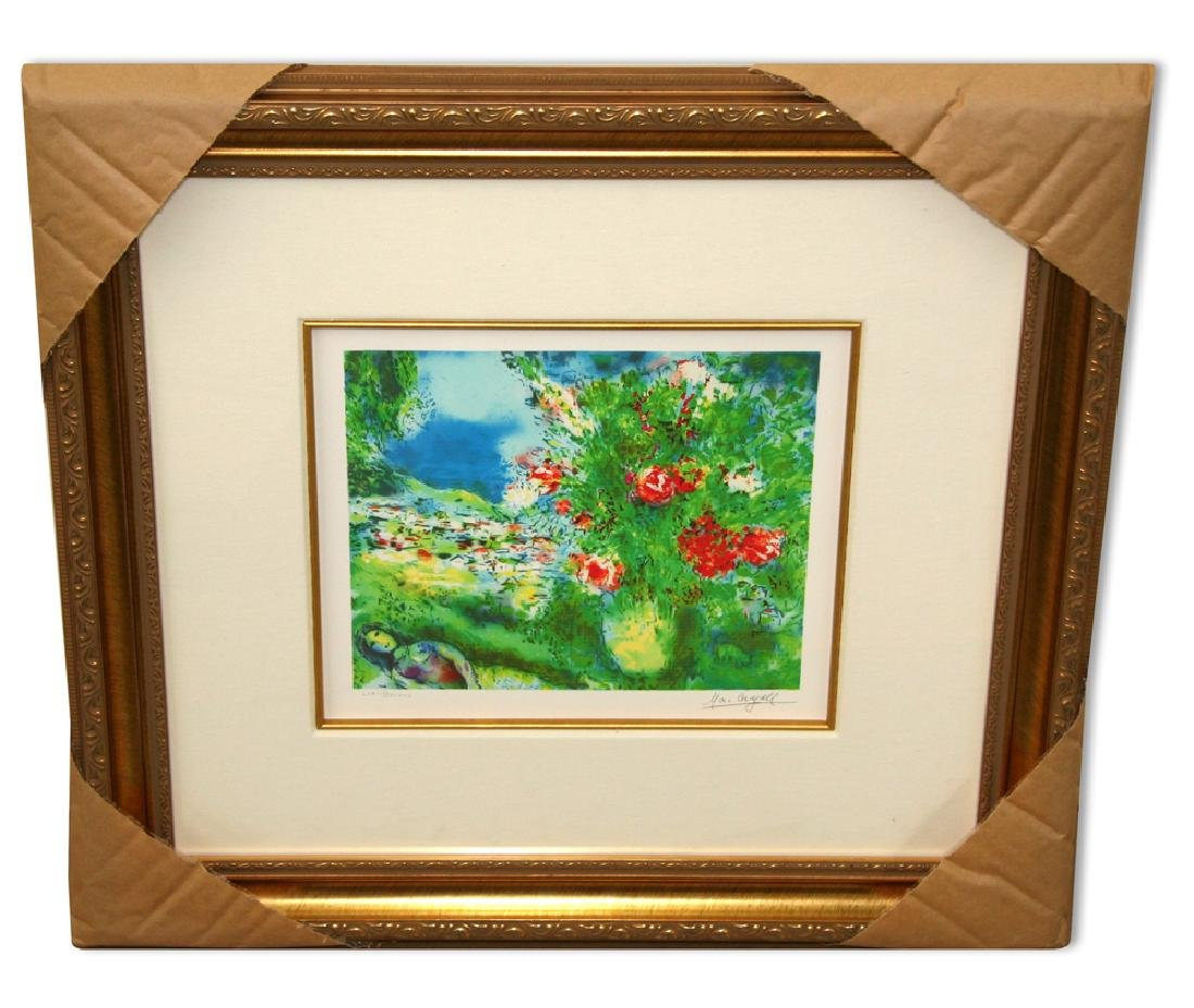 Chagall (After) 'Paysage' Museum Framed Giclee-Limited
