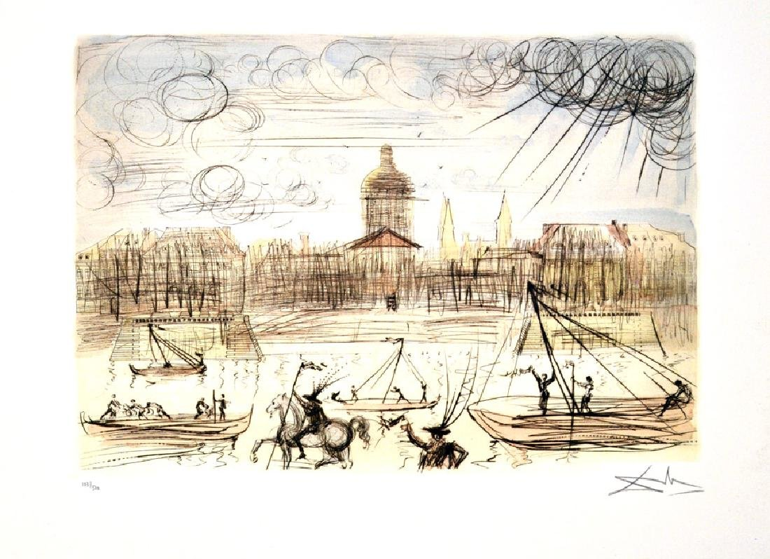 SALVADOR DALI (After) Academy Of France Print, I76 of