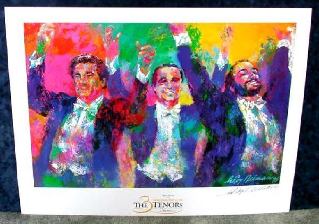 Hand Signed LeRoy Neiman: Three Tenors