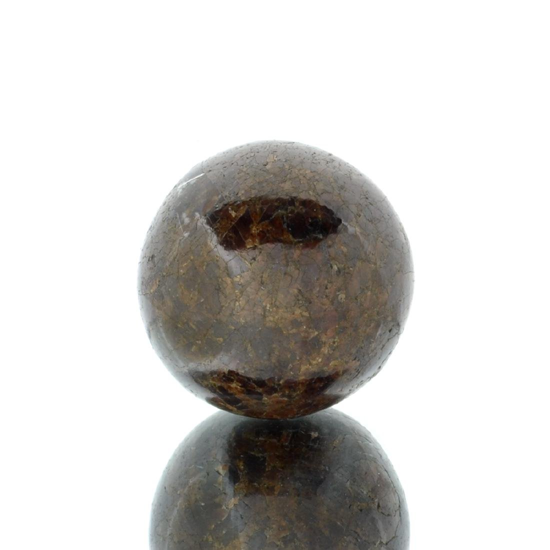 APP: 0.9k Rare 508.00CT Sphere Cut Dark Garnet Gemstone