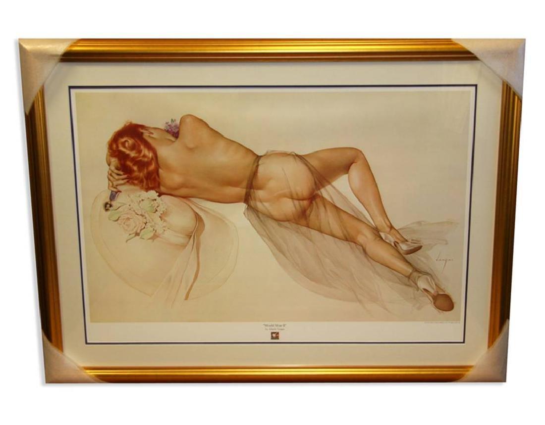 Alberto Vargas (Naked) Exquisitely Museum Framed &