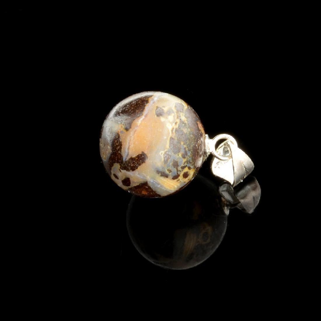 11.85CT Boulder Opal Sterling Silver Pendant