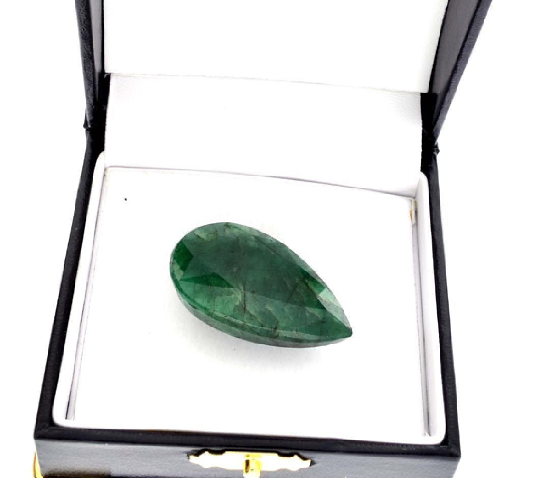 APP: 2.9k 60.50CT Pear Cut Green Beryl Emerald Gemstone