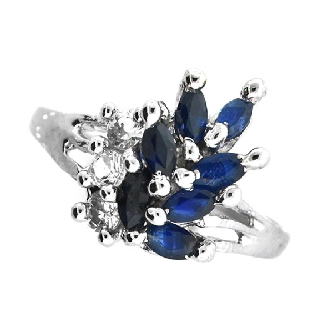 Fine Jewelry Designer Sebastian 1.00CT Blue Sapphire